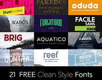 Dealjumbo Free Bundle vol.3 – 21 Custom Fonts!