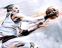 Allen Iverson NBA Artwork