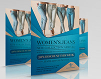 Jeans Fashion Flyer Template