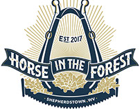 Horse In The Forest Logo/Signage