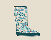 Rain boot - Pattern