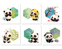 【24节气.春】立春 雨水.惊蛰.春分.清明.谷雨.熊猫