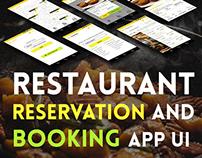 Restaurant Booking & Reservation Concept app UI