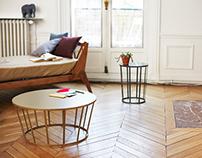 HOLLO tables & stool