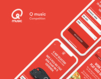 Qmusic - Competition app UI proposal
