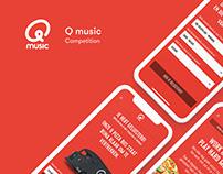 Qmusic - Competition app UI proposal