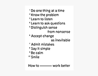 How to work better · Poster design