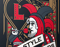 L-style Playing cards. Design and packaging.