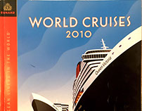 Corporate collateral for Cunard Cruises Berman Design