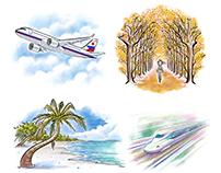 Yuujin Japanese School Word of the Week artworks