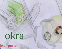 Okra Botanical Illustration