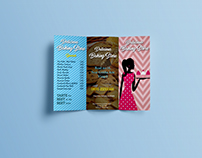 Delicious Baking Store- Brochure Design