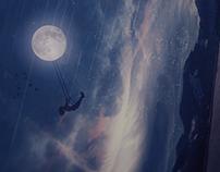 Night under the moon
