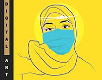 Keep Distance - Friends Profile Pic While Quarantine