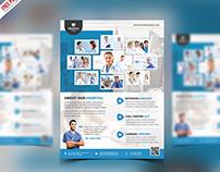 Free PSD : Health Clinic & Hospital Flyer Psd Template