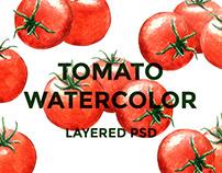 Tomato watercolor set