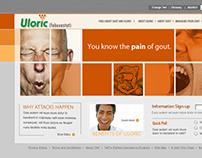 Uloric (febuxostat) — Website Concept