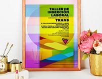 Cartel para taller de inserción laboral Trans