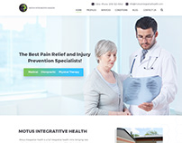 Motus Integrative Health Mockup