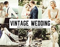 Free Vintage Wedding Mobile & Desktop Lightroom Preset
