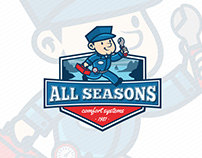All Seasons HVAC Heating and Cooling Services Branding