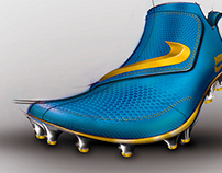 NIKE football shoes.