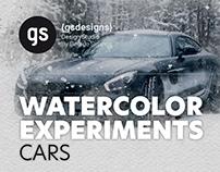 WATERCOLOR EXPERIMENTS - CARS