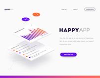 Happy App Landing page