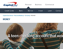 Capital One Teen Checking Account UI/UX