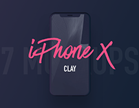 7 Most Popular iPhone X Clay Mockups