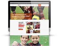 AC Milan. Junior Camp   Diseño web