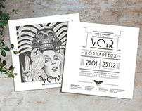 VOIR // Nero Gallery // Logo design // flyer
