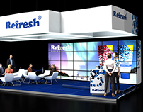 Refresh promo exhibition stand concept