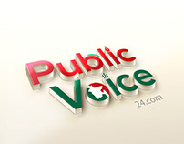 Public Voice 24 logo Design