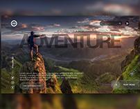 Website UI - Adventure and Merry Christmas