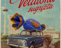 """""""Veliuona"""" candy poster"""