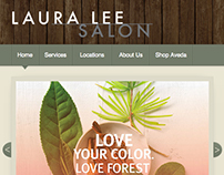 Laura Lee Salon Website Design