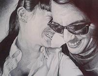 """""""Sabela &Alberto"""" BIC ballpen drawing"""
