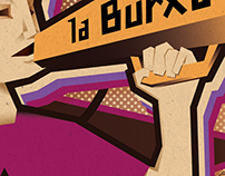 "Illustration for revolutionary newspaper, ""La Burxa""."