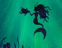 Mermaid Silhouette - Oil on canvas