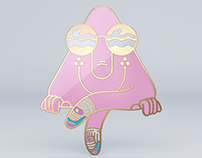 Triangle Dood Enamel Pin 2