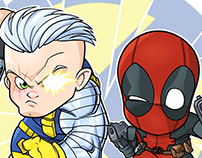 Chibi Cable & Deadpool