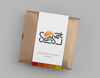Sunset bar branding