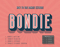 Bondie Extrude Font Family - Free Download