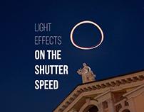 Light effects on the shutter speed
