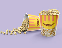 Popcorn Bucket Packaging Mockups