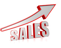Sales going up