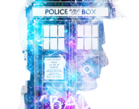10th doctor purple TARDIS