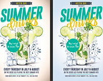 Summer Drinks Promotion Flyer Template