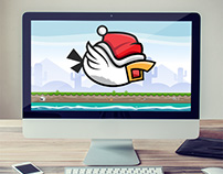 bird with santa hat